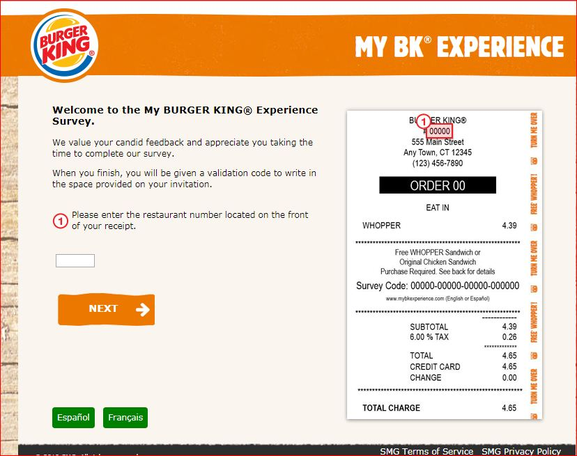 Burger King Experience Survey