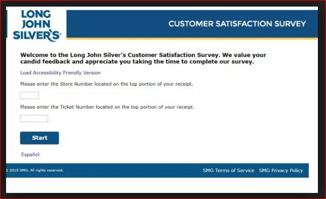 Go To My Long Silvers experience Customer Satisfaction Survey
