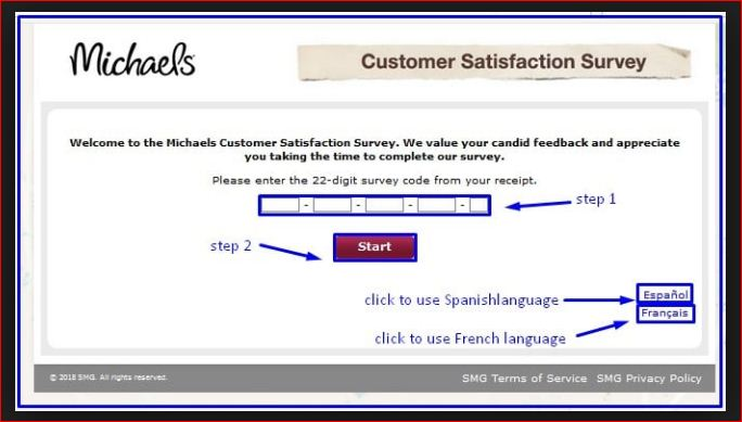 Michaels Survey or Rules and Requirements@