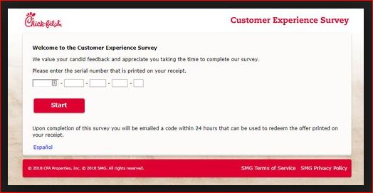 Survey Chick fil A Customer Experience www.mycfavisit.com @