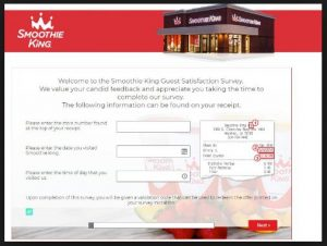 Smoothie King Survey