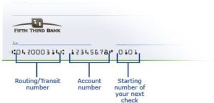 Fifth Third Bank routing number