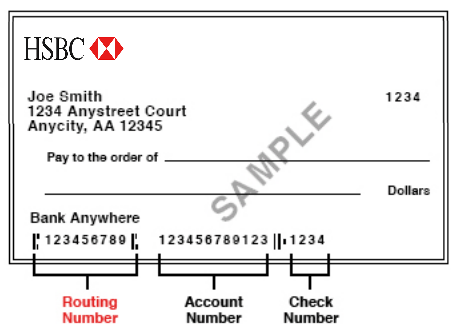 HSBC Bank Routing Number