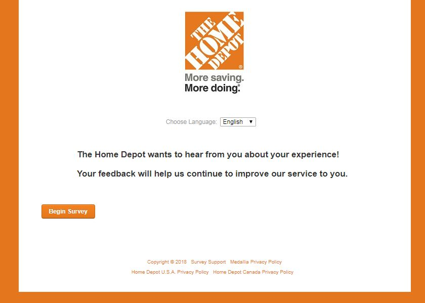 www.HomeDepot.com/Survey