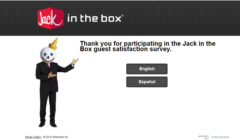Jack In The Box Survey at www.JackListens.com | JackListens