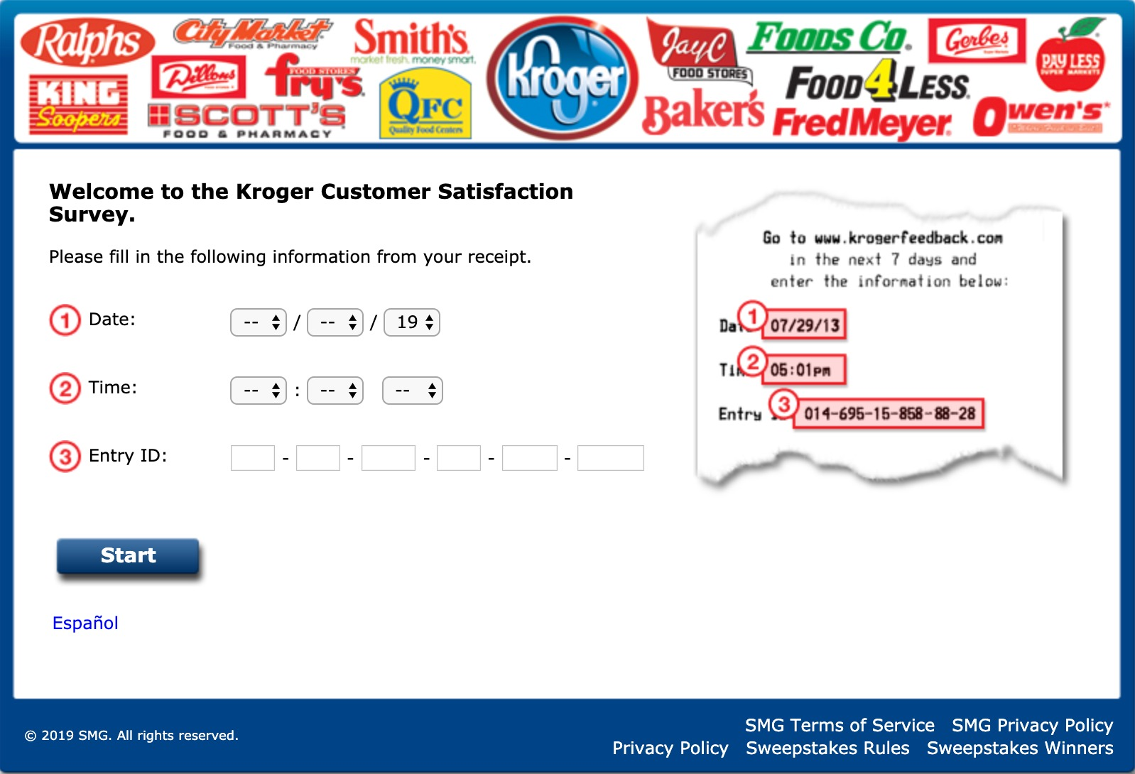 krogerfeedback survey