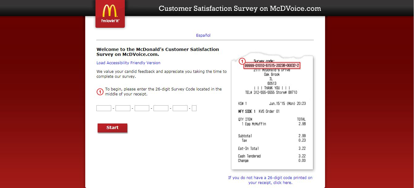McDonalds Customer SurveyMcDonalds Customer Survey