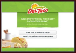Del Taco My Opinion Survey