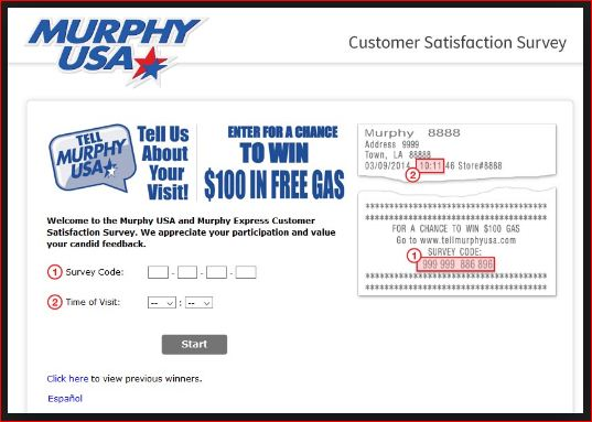 Follow murphy usa Survey Rules