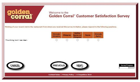 GoldenCorral-listens.com online Web Survey