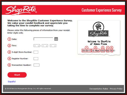 How to Participate Complete ShopRite Customer Experience Survey