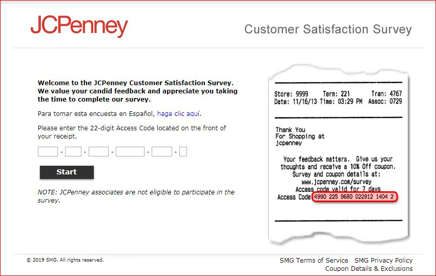 JCPenney Customer Satisfaction Survey@