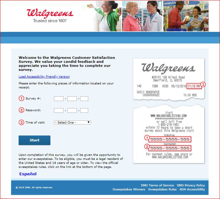 Let`s Go Walgreens Customer Satisfaction Survey
