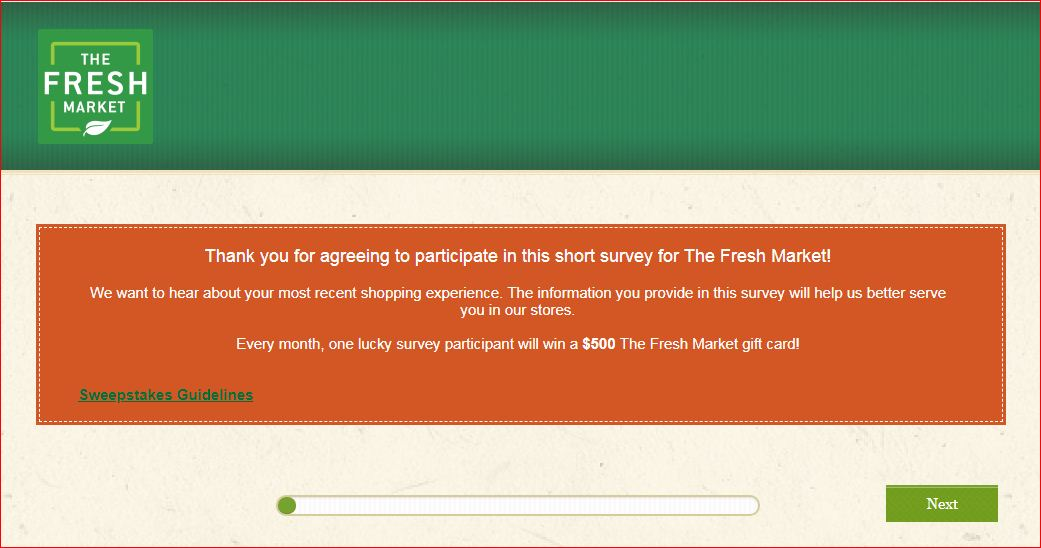 Sarts Fresh Market Customer Experience Survey