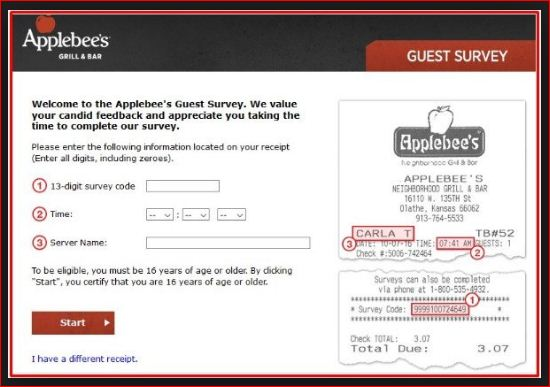 TalktoApplebees survey@