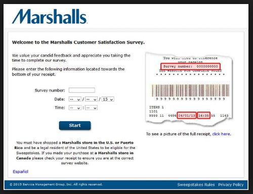 Welcom To Marshalls Customer Satisfaction Survey