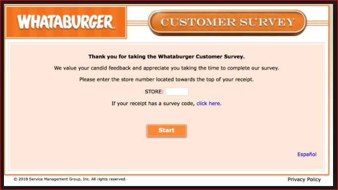 Whataburger Survey 2019