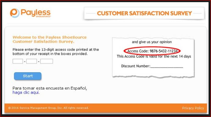 payless customer satisfaction survey and rewards