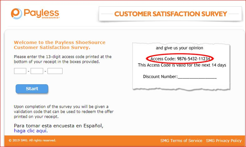 Payless Survey Online