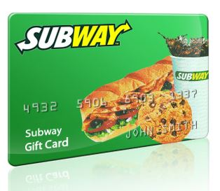 subway gift card balance image